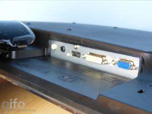 HDMI, DVI-D und VGA können als Videoeingang genutzt werden